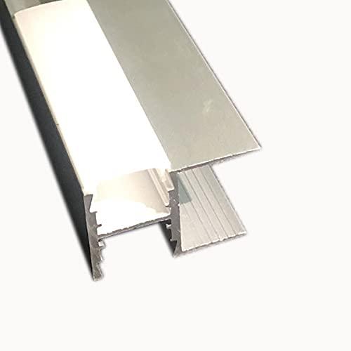 LEDKIA LIGHTING Perfil de Aluminio para Estantería con Tapa Continua para Tira LED hasta 12 mm 5m