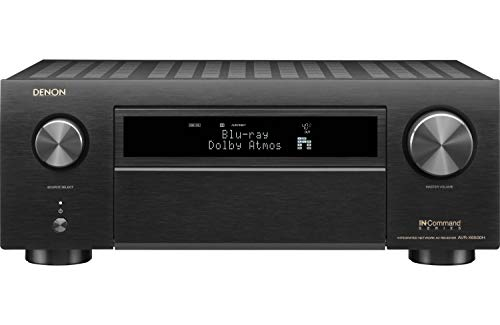 Denon AVR-X6500H Receiver - 8 HDMI In /3 Out, High Power 11.2 Channel (140 W/Ch) Amplifier   Dolby Surround Sound, Music Streaming with Alexa + HEOS