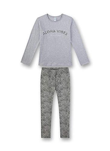 Sanetta Mädchen Pyjama lang Zweiteiliger Schlafanzug, Grau (grau 1646), (Herstellergröße:152)