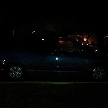 Blue Mini Van