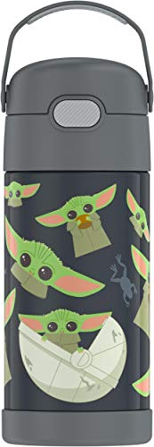 THERMOS FUNTAINER 12 Ounce Stainless Steel Kids Bottle, Mandalorian