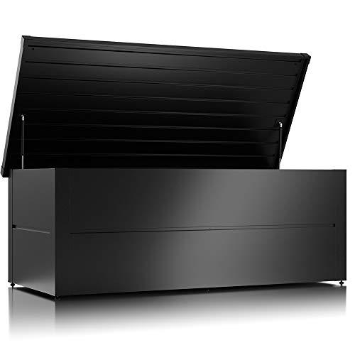 ILESTO Aufbewahrungsbox Stahl, Benjamin (783L): Garten Auflagenbox wasserdicht XXL | Kissenbox Paketkasten Paketbox 185x85x69cm | Stauraum für den Außenbereich | Anthrazit