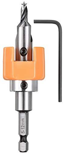 kwb HSS-M2 Hartholz-Bohrer mit Tiefenstopp und Senker, Ø 5 mm