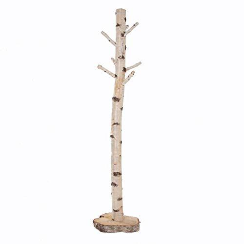 Zweigedeko Garderobenständer aus Birkenstamm 170 cm hoch