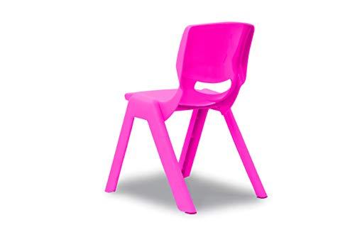 JAMARA 460584 - Kinderstuhl Smiley bis 100 KG - stapelbar, aus robustem Kunststoff, Indoor-Outdoor geeignet, pink
