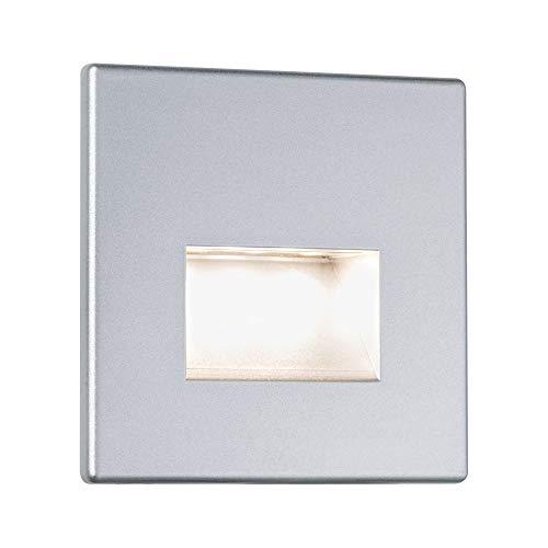 Paulmann Leuchten Paulmann 99495 Muur inbouwlamp Edge inbouwspot LED-lamp 11W inbouwlamp chroom mat plafondspot incl. lamp plafondinbouwspot inbouwlamp, kunststof, 1,1 W