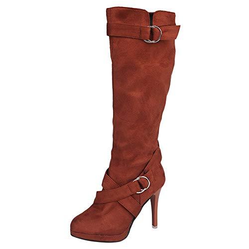 Stiefeletten Damen,Damen High Heels Stiefel Stiefel Lange Stiefel,Binggong Damen Stiefeletten
