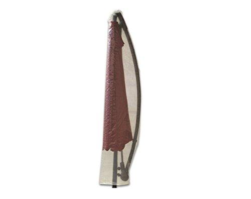 Profiline Schutzhülle, wasserdichtes und transparentes Bändchengewebe für einen Ampelschirm bis ca 300 cm Durchmesser, mit Reißverschluß, 454723