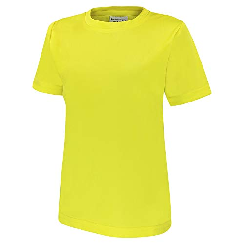Alps to Ocean Sports Kinder Sportshirt Funktions T-Shirt Teamsport (schnelltrocknend, atmungsaktiv), Größe:116, Farbe:Yellow