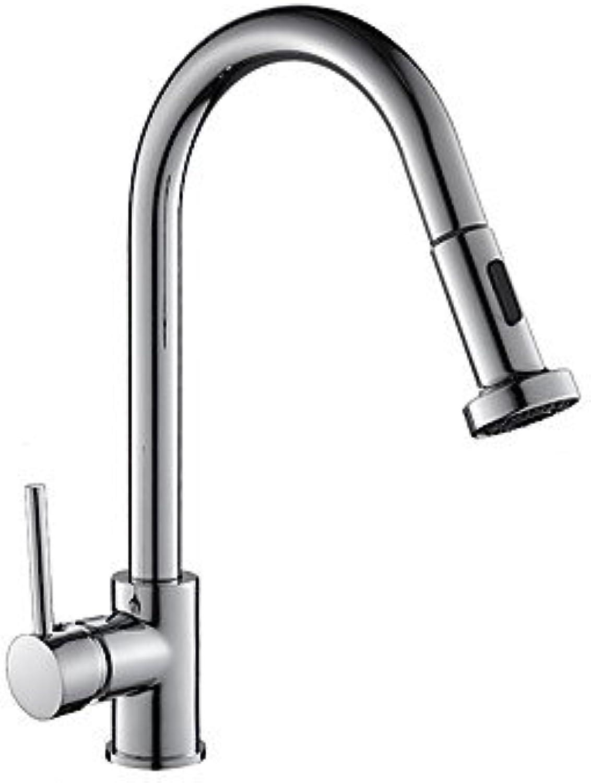 GJR-L Kitchen Faucet - Art Deco Retro   Modern Contemporary   Fashion Chrome Standard Spout Centerset Brass