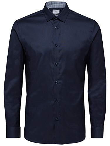 SELECTED HOMME Male Hemd Slim-Fit- LNavy Blazer