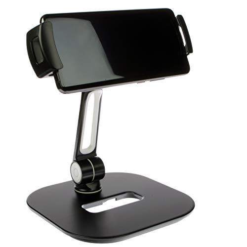 SINLAND hochwertige Universelle Halterung 360° drehbar | Für Tablet, Handy, Smartphone & Kamera | Stabiler Alu-Fuß Schwarz Klein