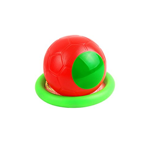 HANGNUO Knöchel Skip Ball überspringen Ball Schwingen Ball Sprung Ball Hüpf Ball Spielzeug Ball Spiele Fußball Kickball Sport Übung Fitnessgeräte für Kinder Erwachsene Jungen Mädchen, Rot