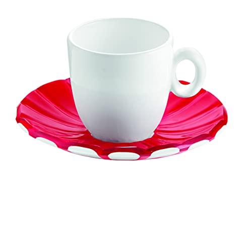 Guzzini 8008392271130 - Juego de 2 tazas de café, color gris