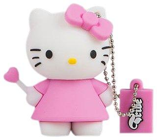 Tribe Hello Kitty Chiavetta/Memoria 4GB USB Flash Drive 2.0, Catenella Portachiavi, Angel, Rosa