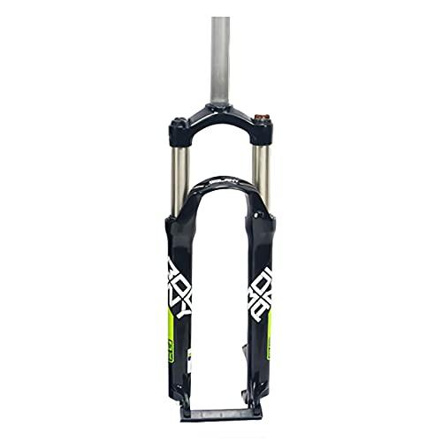 CAREXY Horquilla De Bicicleta MTB, 26/27,5/29 Pulgadas, Aleación De Aluminio, Amortiguador De Bicicleta, Horquilla Mecánica, Tubo Recto, Viaje, 100Mm, Piezas De Bicicleta,Black 1,26''