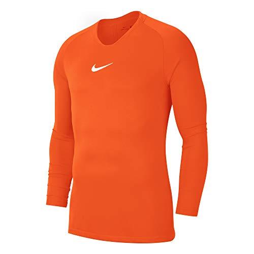 NIKE Park First Layer Jersey LS, Bebé-Niños, Safety Orange/White, 2XL