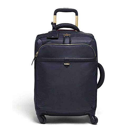 Lipault - Plume Avenue Spinner 55/20 Luggage - 22' Carry-On Rolling Bag for Women - Night Blue