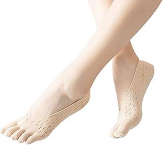 Aoliao, Calcetines ortopédicos de compresión para mujer, calcetines de corte ultra bajo con pestaña de gel transpirable