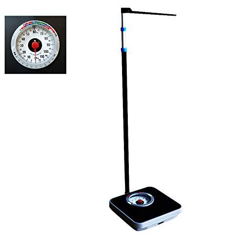 YZJJ Bascula Personal analogica, Báscula mecánica, Báscula para medir Peso y Altura Balanza Digital, farmacias, hospitales, Instrumentos Especiales para medir la Altura y el Peso de Adultos