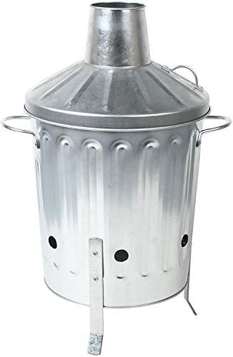 ARBORIA Small Medium Large Extra Large Galvanised Metal Incinerator Fire Burning Bin (15 Litre)