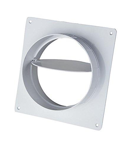 Rundrohrsystem -PVC Lüftungsrohr Bindeglieder Kniestück T-Stück Reduktion Halter (Ø 125, Wandflansch mit Rückschlagklappe)