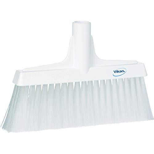 "Vikan 31045 Fine Sweep Floor Broom Head, Polypropylene Block, 10-1/4"" Polyester Bristle, White"
