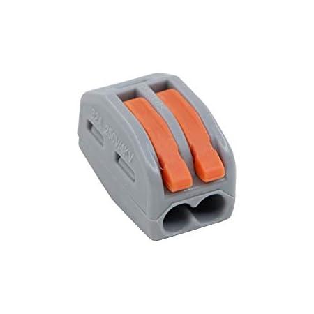 Bornes de connexion automatique Connecteurs de c/âble lot de 50 222-418 Connecteurs de fil compacts