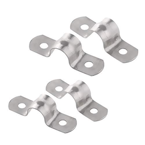 4 teilig 14mm + 12mm Edelstahl Rohrklemme Rohrschelle Halbschale Rohrhalter