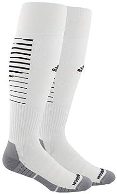 adidas Unisex Team Speed II Soccer Socks, (1-Pair), White/Black/Light Onix, 13C-4Y