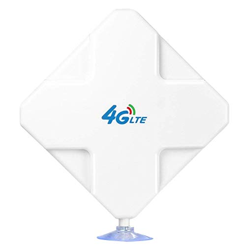 Mogzank Antena 4G LTE SMA Antena de Alta Ganancia 35DBi Conector Doble SMA Amplificador de Seeal para ZTe Vodafone Hotspot Router
