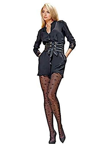 Conte® Collant Donna Elegante con Fantasia Disegno Stelle Opaco - Etoile, calze velate con disegno (nero, 3/M)