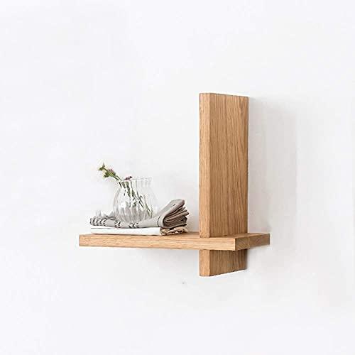 DGDF Estantes para colgar en la pared Estantes de madera maciza Estantes de roble blanco Divisor de sala de estar TV colgante de pared Cruz