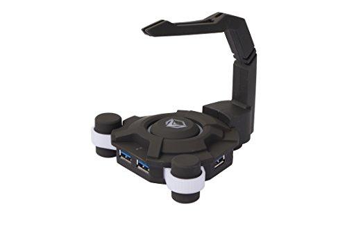 MEETION Gaming Hub USB con soporte para cable del ratón (4 puertos USB 3.0, iluminación LED) MT-U001