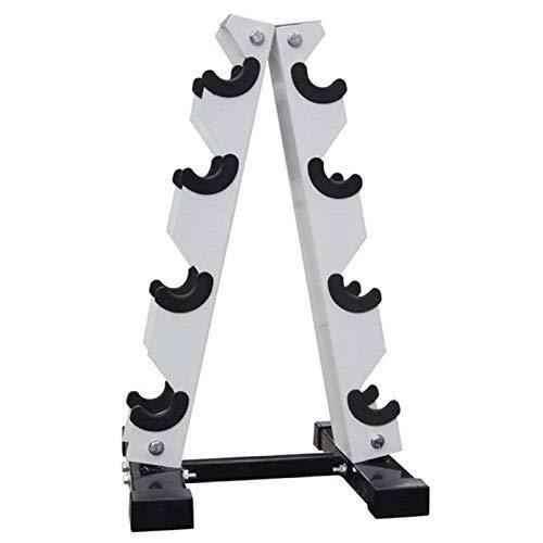 CSPone Soporte para mancuernas, 3/4 capas, soporte para mancuernas, soporte para mancuernas, soporte para mancuernas, soporte para mancuernas, soporte para pesas de acero (4 niveles)