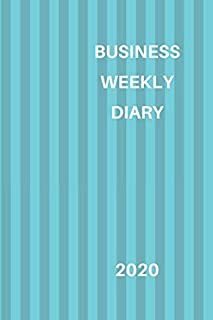 Business Weekly Diary 2020: 6x9 week to a page diary planner. 12 months monthly planner, weekly diary & lined paper note pages. Perfect for teachers, ... small business owners. Two tone blue design