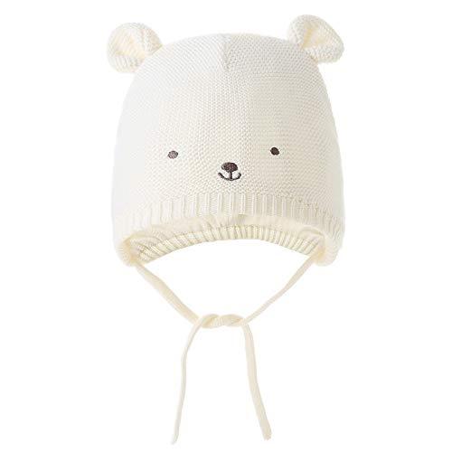 Monimo Baby Mütze für Jungen und Mädchen Winter Gestrickte Süße Niedliche Mütze Ohrenklappen Hut