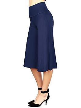 MBJ WB876 Womens Knit Culottes Pants XL Navy