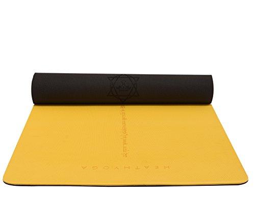 Heathyoga Avanzada Antideslizante Yoga Mat con 30% más cojín y Agarre,...