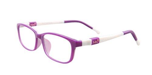 De Ding Brille für Jungen und Mädchen, optisch, für Kurzsichtigkeit, Violett / Weiß