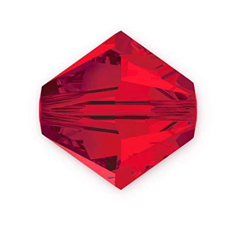 50pcs Authentic 6mm Swarovski Crystals 5328 Xilion Bicone Crystal Beads for Jewelry Craft Making (Light Siam) SWA-b606
