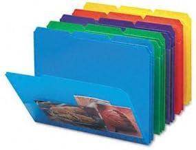 Smead 100% quality warranty Poly Colored File Folders Oklahoma City Mall With LT Slash FOLDER Pocket POLY