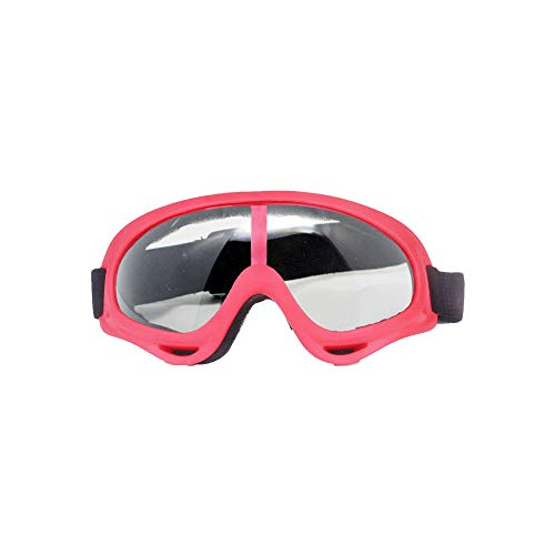 Rabusion New for Motorcycle Goggles Ski Glasses UV Protection Sport Snowboard Skate Skiing Goggles Red frame transparent lens