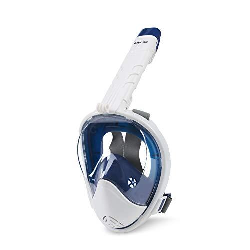 Glymnis Masque de Plongée Intégral avec Tuba Pliable Anti-buée, Anti-Fuite, Plein Visage 180° avec Support de...