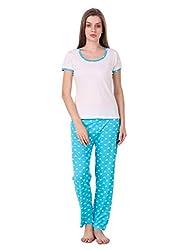 Masha Womens Cotton Nightsuit with Night Top and Pyjama