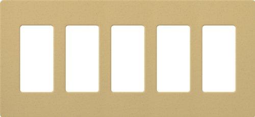 Lutron SC-5-GS Satin Colors 5-Gang Wallplate, Goldstone