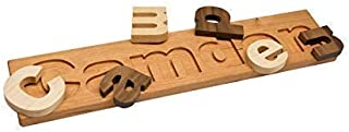 South Bend Woodworks Fun and Educational Personalized Hardwood Name Puzzle