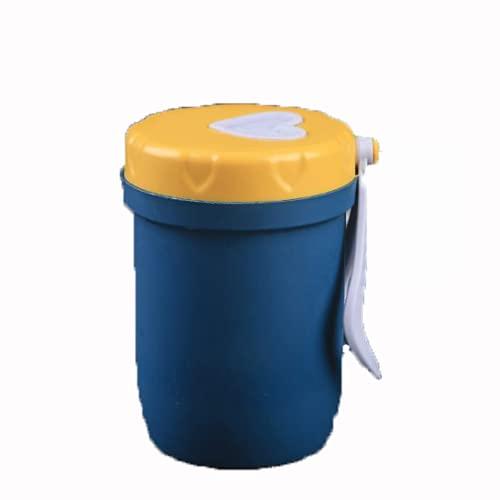 YIXINYOUPIN Vaso de paja de trigo reutilizable irrompible, respetuoso con el medio ambiente, botella de agua saludable biodegradable, tazas de amor multicolores, puede contener café, té azul oscuro