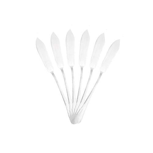 Mr. Spoon Lot de 6 pelles à Poisson couteaux à poisson en Acier Inoxydable 21 x 2,2 cm