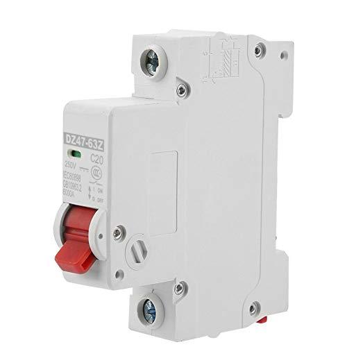 YWBL-WH DZ47-63Z-1P DIN Rail Mount Miniature Circuit Breaker 1P, 20A DC, 250V,6000 Amp
